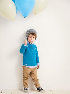 Kinder Pullover mit Perlenmuster