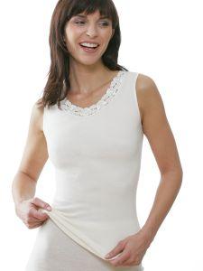 Damen Unterhemd ohne Arm mit Spitze