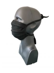 Mund-Nasen-Maske (2 Stk.) anthrazit