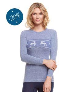Damenhemd langarm mit Hirschbordüre