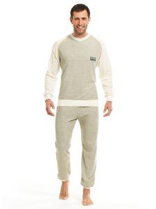 Herren Pyjama 1/1 Arm Frottee