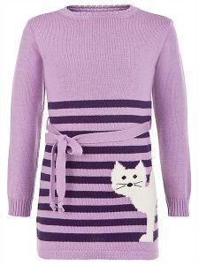 Kinder Kleid Katze