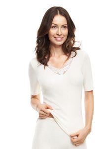Damen Unterhemd / Shirt mit Spitze