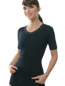 Damen Unterhemd / Shirt Arm mit Spitze