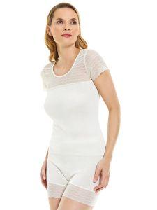 Damen Unterhemd / Shirt mit Spitzeneinsatz