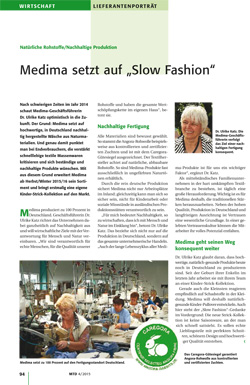 MTD - Medima setzt auf Slow Fashion